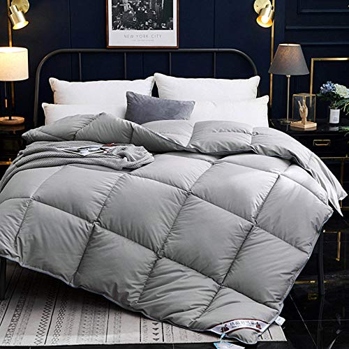 White Goose Down Duvet Cotton Feather-Proof Duvet To Keep Warm In Winter, Warm And Cosy, Double-F_150x200cm-4kg