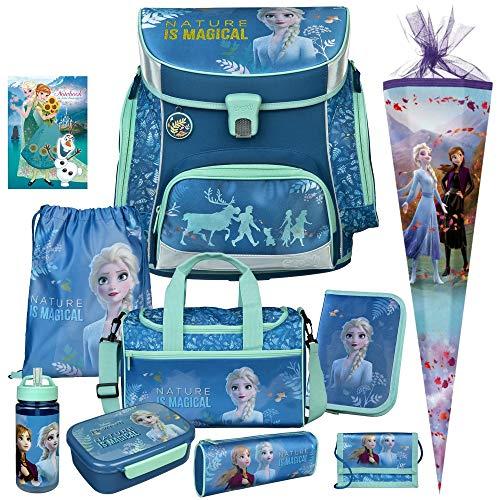 Frozen II - DIE EISKÖNIGIN - SCOOLI Undercover Campus FIT PRO Schulranzen-Set 11tlg. mit Sporttasche, SCHULTÜTE, BROTDOSE und TRINKFLASCHE