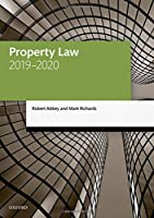 Property Law 2019-2020 (Legal Practice Course Manuals)