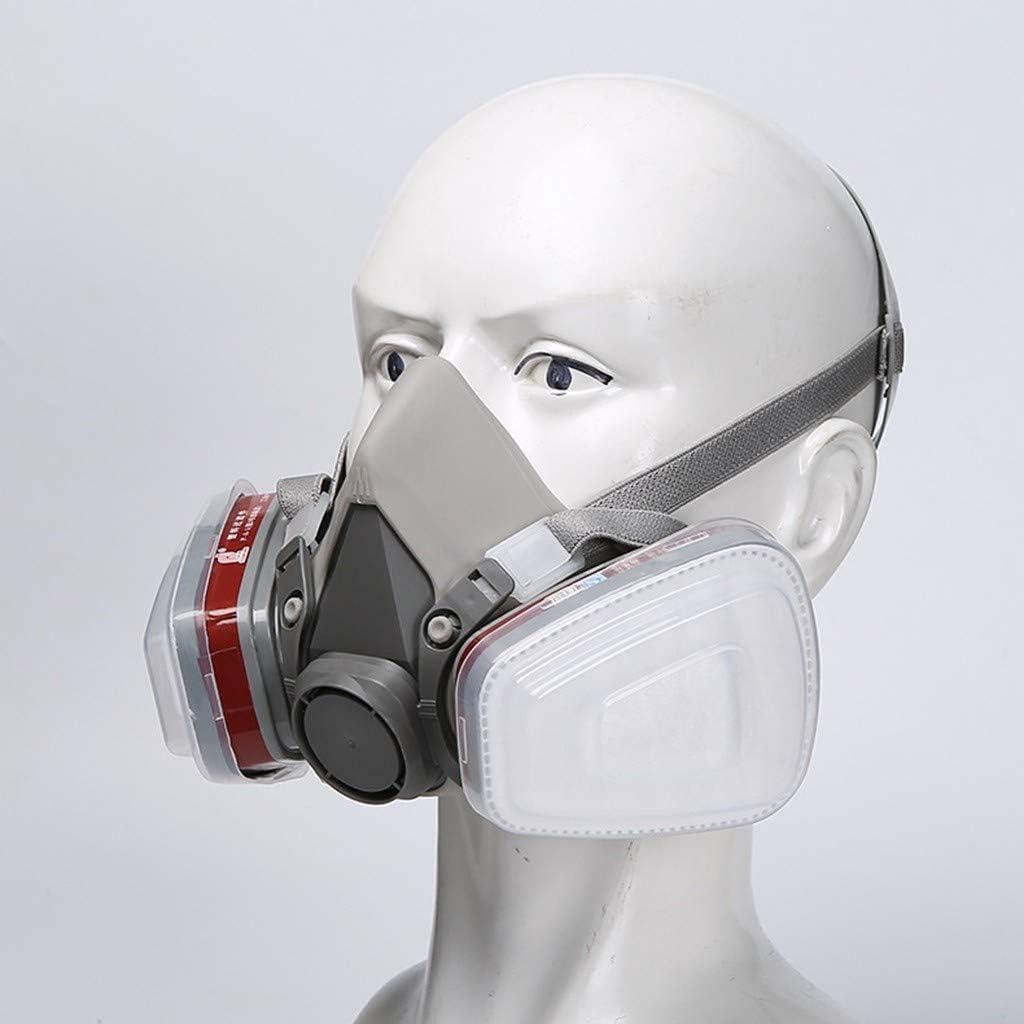 MEITING Mundschutz Atmung Halb Sichtabsicht Schutz Staubdicht Wiederverwendbare Aktivkohle Spr/üHlackiermaschine Polieren,Schwei/ßen Und Sonstiger Arbeitsschutz Bandana