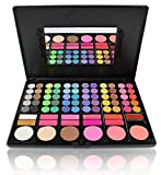 Pure Vie Professional 78 Colors Cream Concealer Camouflage Makeup Palette Contouring Kit - with 12 Lip Gloss, 60 Eyeshadow and 8 Concealer - Perfect for Professional as well as Personal Use