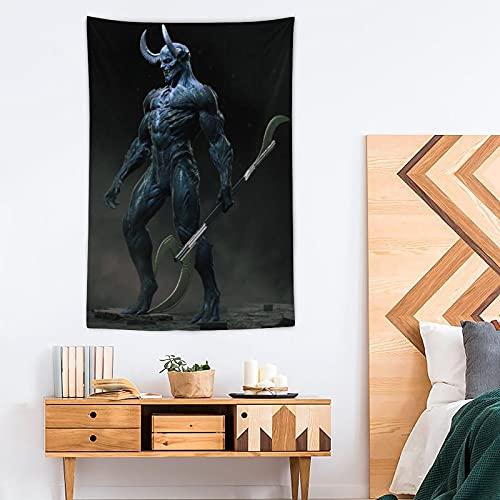 SDFGE Tapiz del diablo – Pop Art – Tapiz de poliéster – Decoración del hogar – 100 x 150 cm