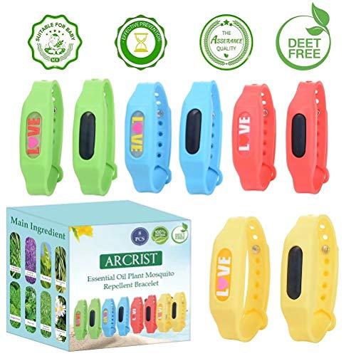 Bracelet Anti Moustique Bracelets Anti-Moustiques Deet Fre Bande Anti Moustique Waterproof Pour Bébé, Enfants Et Adultes, Anti Moustique, La Protection Longue Extérieure Et Intérieure, 8 Paquets …