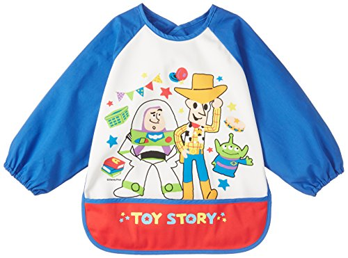 『DISNEY・BABY DISNEY/Pixar トイストーリー 乳幼児 長袖エプロン ブルー ポリエステルスムス×ブロー D2C60』のトップ画像