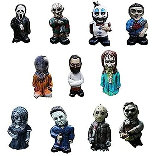 Bdgjln Statue di Nani da Giardino di Film Horror, Assassini di Nightmare on Elm Street, Statue all'aperto per Nani da Giardino da Giardino, Zombi da Giardino di Halloween, Ornamenti di Zombi Nani