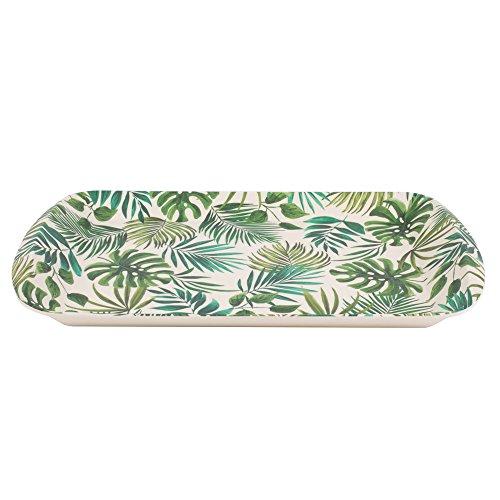 CAMBRIDGE Bandeja reutilizable grande Polynesia CM05922 | Perfecta para servir bebidas en las fiestas, mezcla de fibra de bambú, Serving Tray