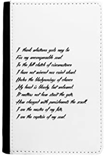 Poetry Quote Never Surrender Unbeatable Passport Holder Notecase Burse Wallet Cover Card Purse