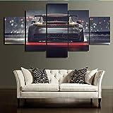 TKKXQT Leinwanddrucke 5 Stück Auto Malerei Wohnzimmer Hd
