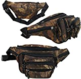 'E-Z Roll' Brand Tree Camouflage Waist Bag/Portable Fanny Pack (Black Trim)