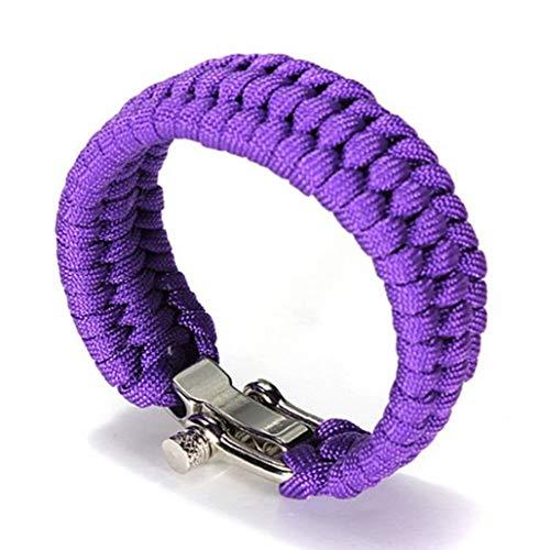 Generic Multifonctionnel Bracelet de Survie Paracord avec Ajustable Acier Inoxydable Boucle Sauvetage d'urgence Parachute Corde pour en Voyageant Camping Randonnée par SamGreatWorld