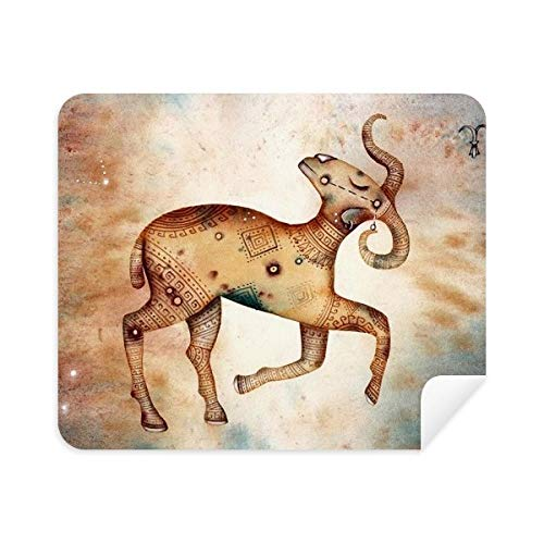 DIYthinker maart april Ram sterrenbeeld Zodiac Telefoon Schermreiniger Bril Reinigingsdoek 2 Stks Suede Stof
