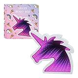 Global Gizmos Licorne Infini Miroir Luminaire Tunnel décoratif avec LED violet/rose