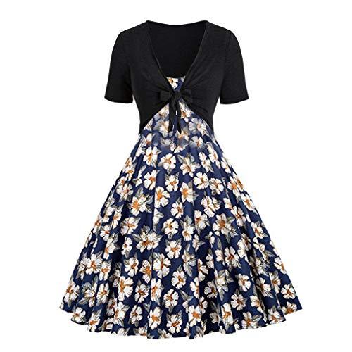 Lenfesh Abendkleider Cocktailkleid Festliche Elegante Kleider 50er Jahre Rockabilly Faltenrock Festliches Partykleider Vintage Kleid Audrey Hepburn Sommerkleider Knielang A-Line
