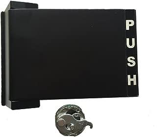 Grip Tight Tools Reversible Push-Pull Narrow Stile Paddle Handle, Dark Bronze Anodized Finish (Push to Left)