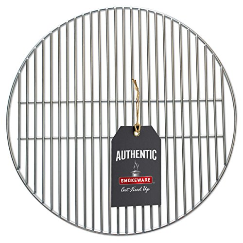 SMOKEWARE Stainless Steel Grill Grate – Compatible with Large Big Green Egg, Heavy Duty Gauge, 18 inches