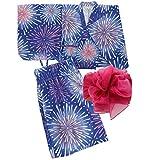 [キャサリンコテージ] 花火大会 夏祭り夏休み セパレートタイプ 2部式浴衣 女の子 WB002 L(150-160cm) 空彩花火[P] TAK