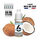 E-liquide pas cher 50ML saveur NOIX DE COCO sans nicotine - (5x10ML)