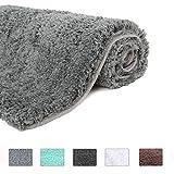 HAOCOO Bathroom Rugs Non-Slip Bath Mat Water Absorbent Soft Shaggy Microfiber Machine Washable Thick Plush Bath Rugs for...