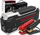 AUTOGEN Arrancador de Coches 3000A 24000mAh(10.0L Gas & Diesel), Arrancador Batería Coche 12V, USB QC 3.0, Paquete de energía portátil para automóviles, SUV, Camiones.