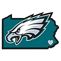 NFL Siskiyou Sports Fan Shop Philadelphia Eagles Home State Decal One Size Team Color