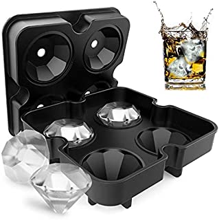 Ice Cube Trays For Whiskey/Diamond-Shaped Large Silicone Ice Cube Mold (DIAMOND)