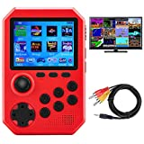 Handheld Game Console with Joystick for Kids Adults, Retro Video Game Player w/ 800 Classic FC Games 3.0 inch Color Screen 1020mAh Rechargeable Battery, Support TV Connection, Gift Toys for Boys Girls