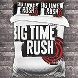 N \ A Big Time Rush - Juego de cama de edredón decorativo suave, juego de cama de 3 piezas, 218 x 177 cm, talla única