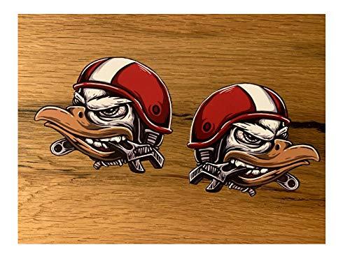 24/7stickers #682 / 2X Adler Aufkleber je 9x7,5cm Racing Biker Motorrad Sticker Tank Oldtimer Oldschool Vintage Custom Bike