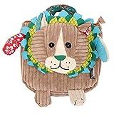 Les Déglingos - Jélékros le Lion - Sac à dos pour enfants maternelle - Peluche - Tissu doux - Sac doudou - Cadeaux Enfants...