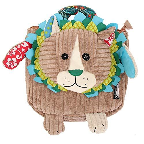 Les Déglingos - Jélékros le Lion - Sac à dos pour enfants maternelle - Peluche - Tissu doux - Sac doudou - Cadeaux Enfants 2-7ans