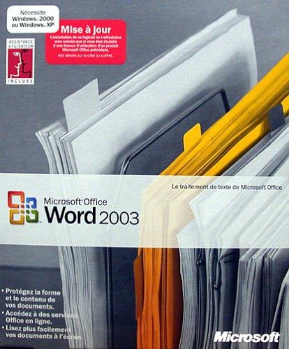 Word 2003, mise à jour