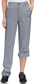 Libin Women's Lightweight Hiking Pants Quick Dry Roll Up Pants, UPF 50, Stretch, Water Resistant