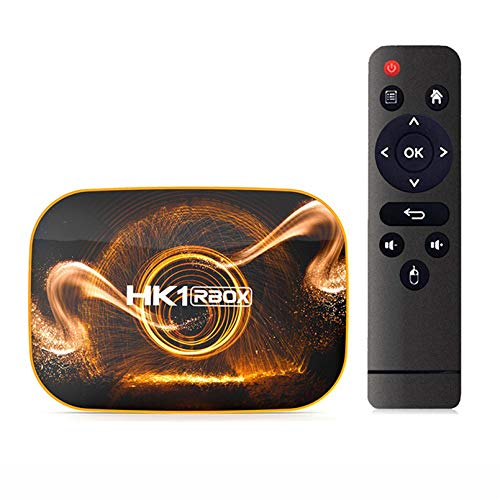 MMFFYZ Android 10.0 WiFi 16GB 32GB 64GB HD Network TV decodificador 6K TV Box Asistente de Voz de Google 2.4G 4GHz WiFi Reproductor Multimedia 3D Decodificador(Size:4GB+64GB)
