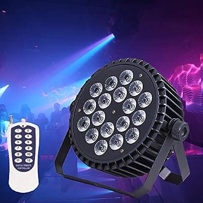 HSL Par Light,180W RGBW DMX512 Control, Professional stage lighting, for Disco, Club, Concert, j Church, Wedding, Theater, Banquet Hall, Bar,Dj