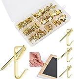 Fuyamp - Grucce per foto con chiodi, 150 pezzi professionali da appendere per foto, cornici, orologi, borse, vestiti