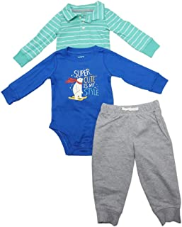The William Carter Company. Baby Boys 3-Piece Long Sleeve Bodysuits & Pant Sets, Assorted
