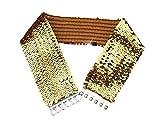 Bigood Retro Punk Vogue - Cinturón elástico con lentejuelas para mujer, color dorado