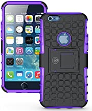 Cable And Case iPhone 6S Case, iPhone 6 Case [Heavy Duty] Tough Dual Layer 2 in 1 Rugged Rubber Hybrid Hard/Soft Impact Protective Cover [with Kickstand] Shipped from The U.S.A. - Purple