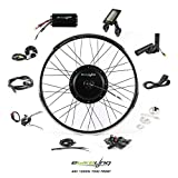 EBIKELING 48V 1200W 700C Direct Drive Waterproof Electric Bicycle Front Wheel Ebike Conversion Kit (Front/LCD/Thumb)