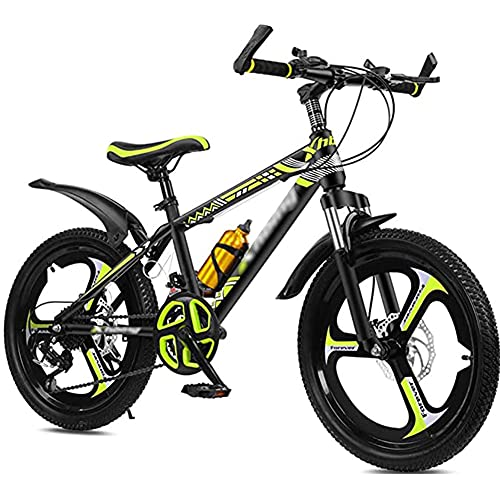 HHORB Bicicleta para Niños, 20 22 24 Pulgadas Bike Bike Bicicletas De Montaña, Bicicleta De Montaña De Freno De Velocidad De 21 Velocidades, Niños De Crucero, Niñas, Chicas,Amarillo,22 Inches