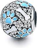 Abalorio de plata Garra de perro de ley 925 para pulseras Pandora, compatible con pulseras europeas