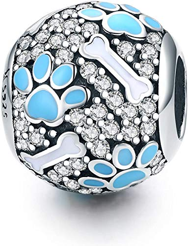 Annmors Abalorio de plata de ley 925 para pulseras Pandora, compatible con pulseras europeas