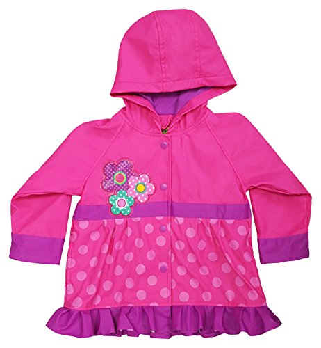 Western Chief Kids Soft Lined Character Rain Jackets, Flower Cutie, 4T