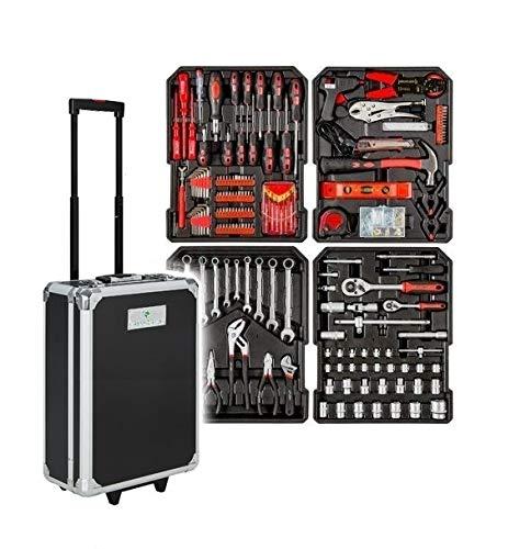 Cassetta attrezzi a Trolley Officina portatile con 187 utensili 4 Scomparti GrecoShop