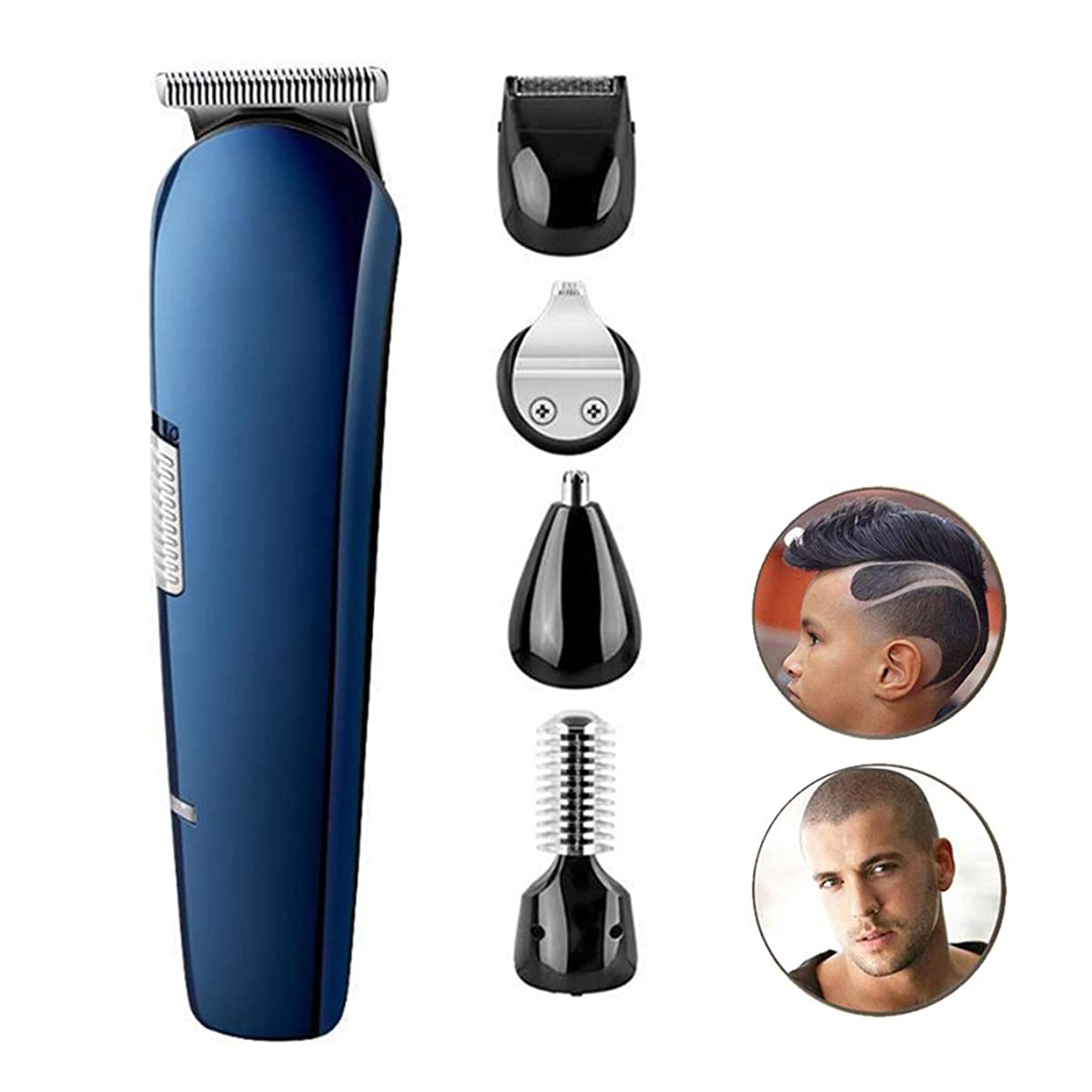 敵個人的に省バリカンクリップNのトリムの毛クリッパーメンズひげのトリマーコードレス再充電可能な専門の毛クリッパー