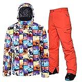 ZYJANO Cubierta del Volante Ski Jacket Pant Men Thermal Winter Snow Trajes de esquí...