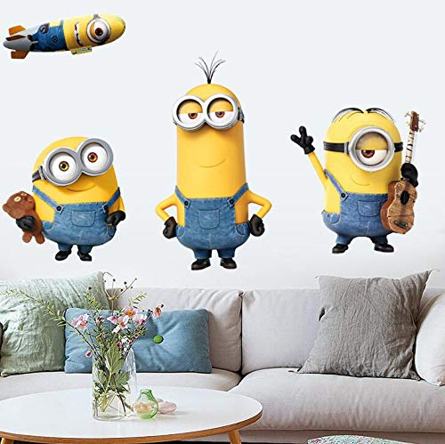 Mi villano favorito 3D Guitar Minion Giant Peel and Stick Giant Minions Bob Kevin Stuart Tatuajes de pared