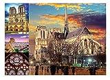 JYSHC Notre Dame Collage Jigsaw Puzzle 1000 Piezas Nz82Ya