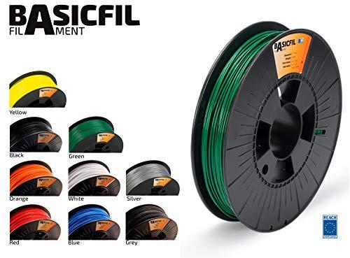 Basicfil PLA 1.75mm, 500 gr Filamento de Impresión 3D,