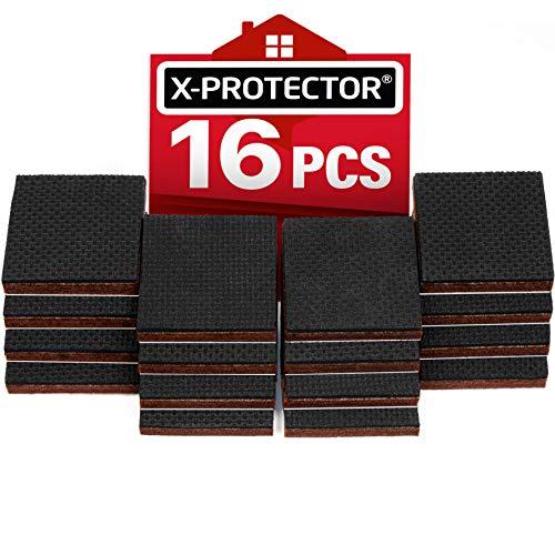 Pies antideslizantes X-PROTECTOR – Primero almohadillas antideslizantes - 16 piezas 50 mm patas de goma - protectores de goma para patas – Ideales protectores de piso - Mantén tus muebles en su lugar